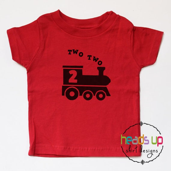 Two Train Shirt 2 Toddler Boy Girl Second