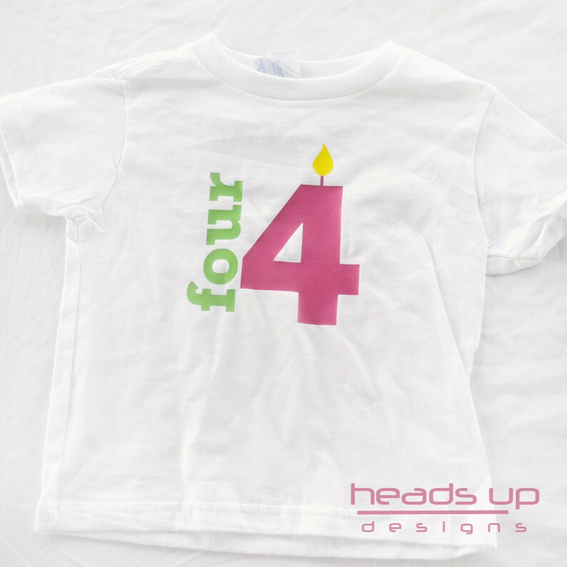 4 Years Old Girl Birthday Shirt Four Toddler Tshirt