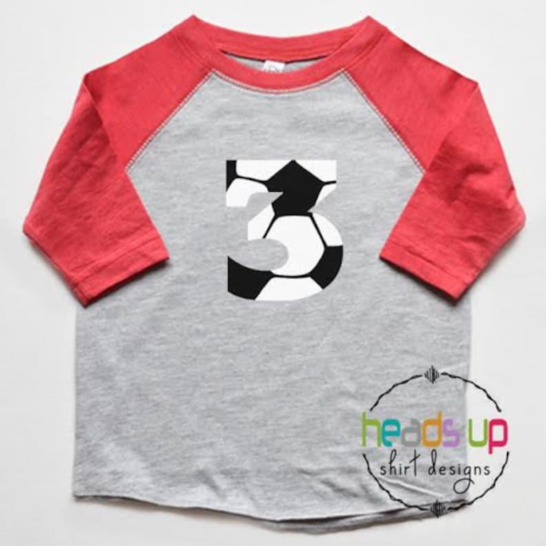 2 Year Old Second Birthday Gift Soccer Toddler Raglan 3//4 Sleeve Baseball Tee