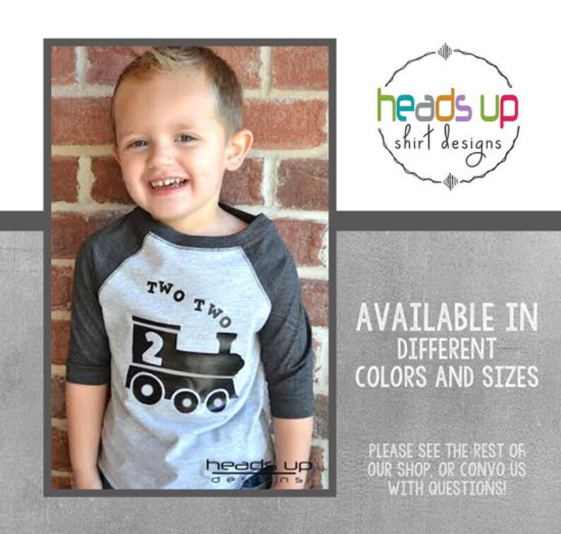 Two Train Toddler Raglan Shirt Boy Girl