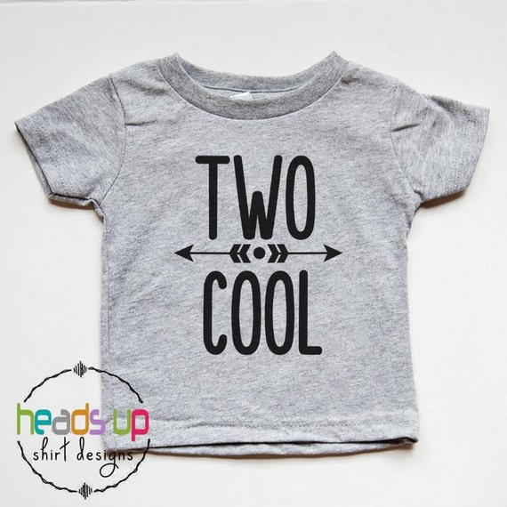 Two Cool Birthday Shirt 2nd Toddler Boy Girl