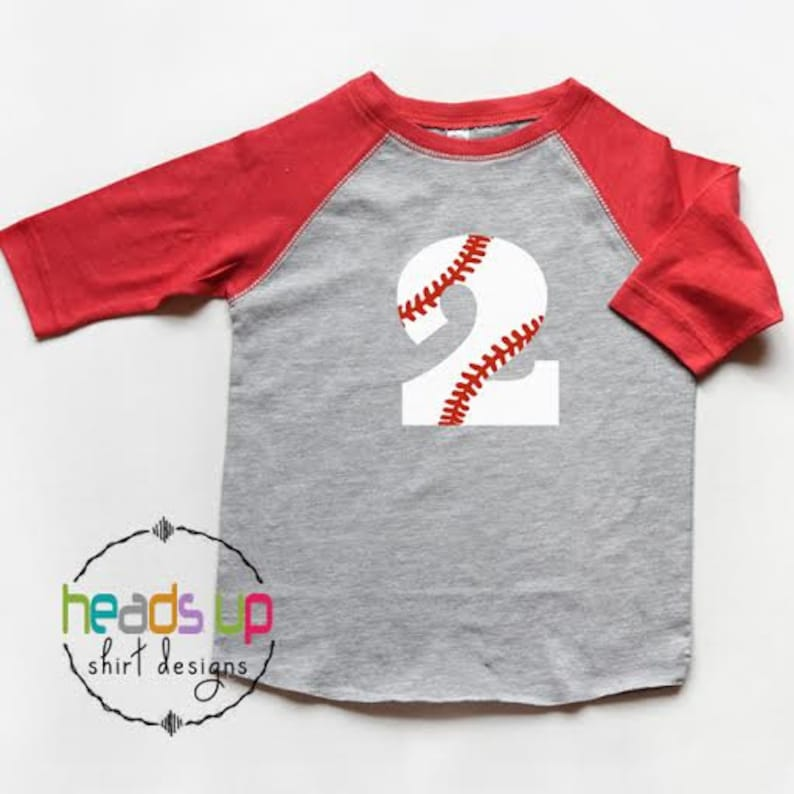Second Birthday Baseball Shirt Toddler Boy Girl Raglan 2