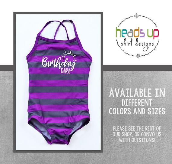 Birthday Girl Swimsuit Kids Toddler Girl Swim Party Swim Suit Bday Little Girl Popular Beach Summer Pool Swimwear Cute Girl Swim Bday Gift