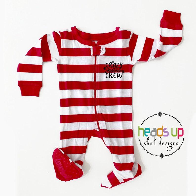 Crazy Christmas Crew Sibling Pajamas Kids Matching Family Pajamas Christmas Popular Cousins PJs Trendy Toddler Baby Xmas PJ/'s Holiday Fun