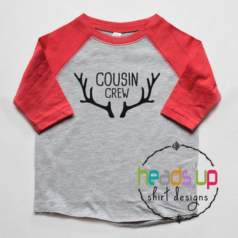 095954280 Cousin Crew Shirts Christmas Christmas Cousin Boy or Girl   Etsy