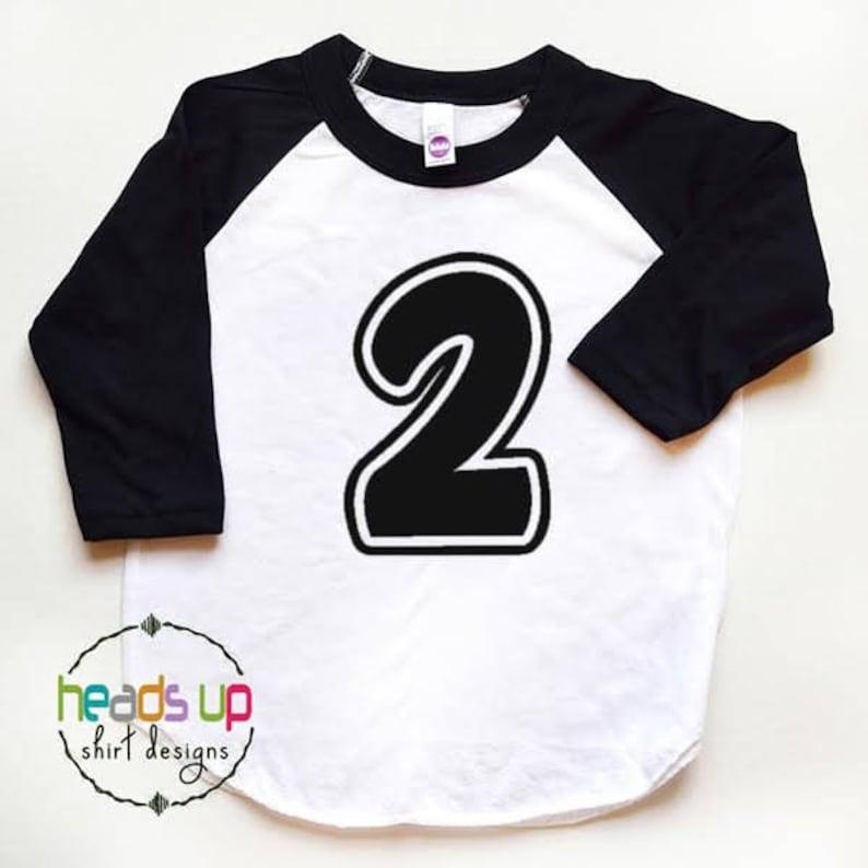 2nd Birthday Shirt Toddler Boy Girl Second Raglan