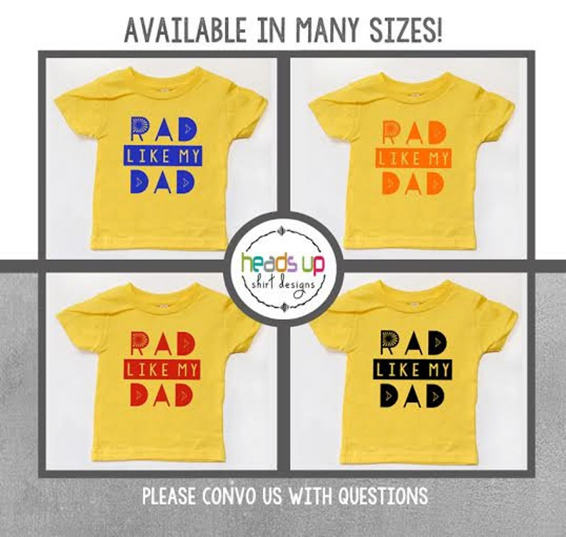 7d702372eed24 Father's Day Shirt Toddler Boy/Girl Rad Like Dad Baby | Etsy
