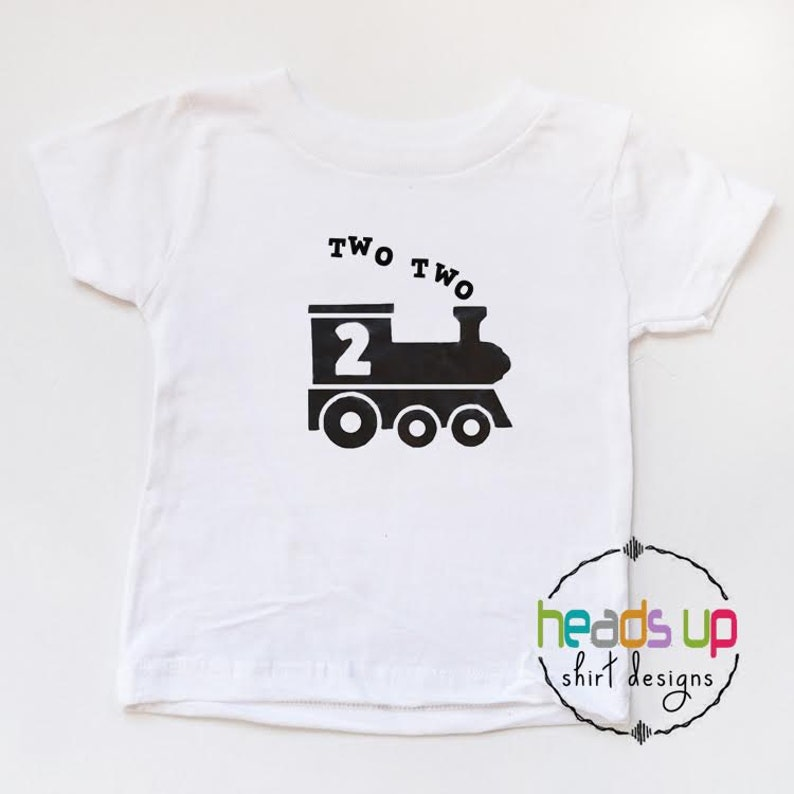 2nd Birthday Train Shirt Boy Toddler Two