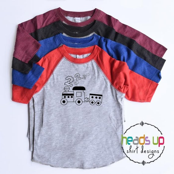 Second Birthday Train Shirt Toddler Boy Girl Bday