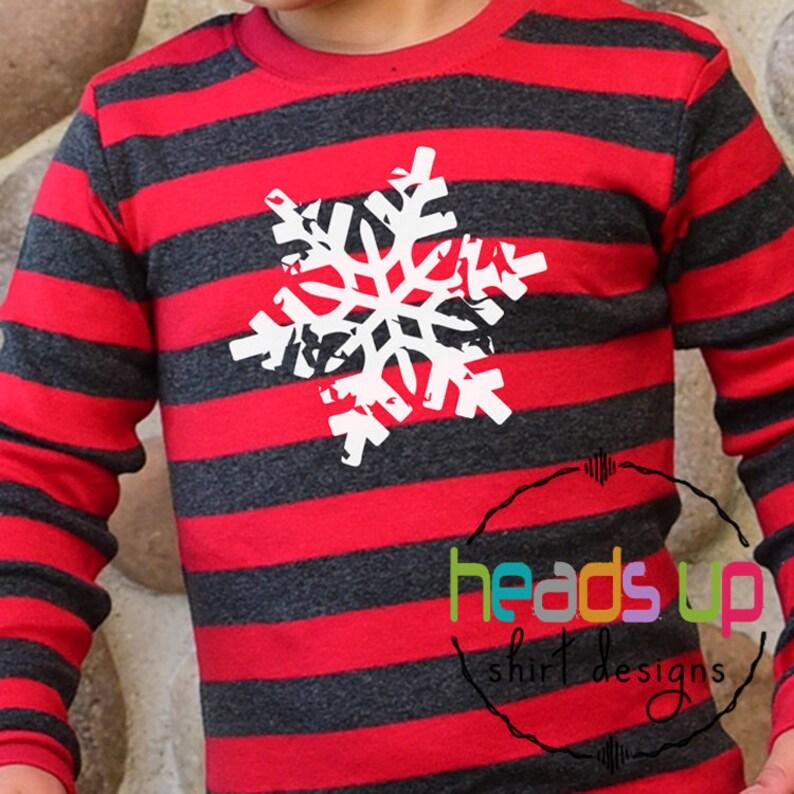 b5bfb5334 Christmas Pajamas for Kids Boy or Girl Distressed Snowflake