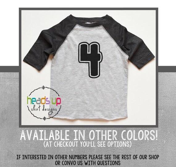 Raglan 4 Birthday Shirt Toddler Boy Girl