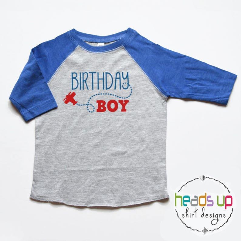 Birthday Boy Shirt Toddler Airplane Baby First Tee