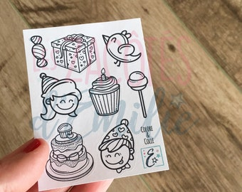 Beach and summer stickers set #2 (set of 9 lots)