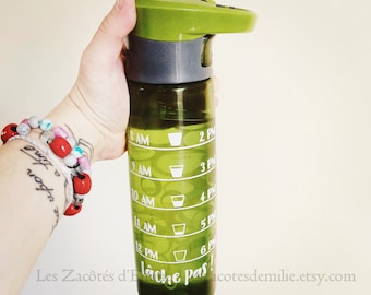 Decide how much water you should drink according to the time of day stick to your favorite water bottle