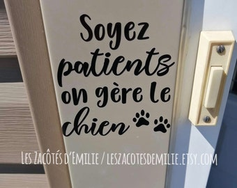 """Decal """"j'bois mon stress, #DISRIEN"""" to stick on a glass of beer, a glass of wine, etc."""