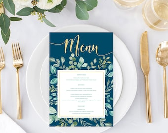formal dinner menu etsy