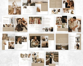 Photography Pricing Guide Wedding Magazine Template Pricing Brochure Price List Photographer Client Guide Editable Photoshop Booklet PG004