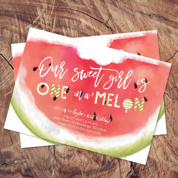 templett template watermelon invitation watermelon birthday etsy