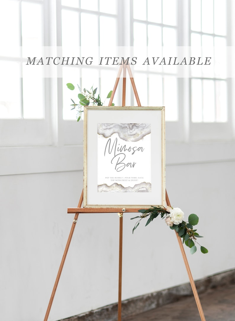 Grey Gold Silver Geode Boho Will You Be My Maid Of Honor Card Bridesmaid Card Proposal Request Templett Printable Instant Download W046