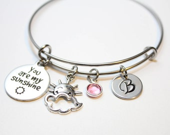 you are my sunshine bracelet, you are my sunshine bangle, you are my sunshine jewelry, you are my sunshine quote, you are my sunshine theme