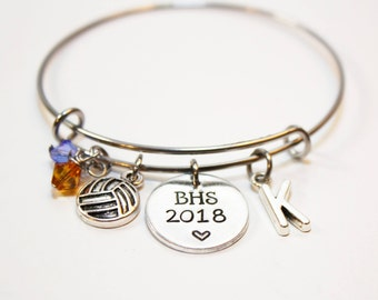 volleyball team bracelet, personalized volleyball bracelet, volleyball theme bracelet, volleyball team gift, volleyball team jewelry