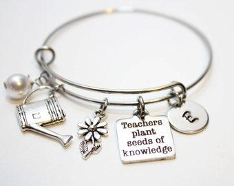 Teacher gift, teacher appreciation, teacher bracelet, teacher charm bracelet, gift for teacher, teacher jewelry, personalized teacher gift