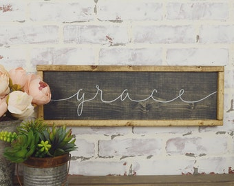 Grace Rustic Framed Wall Decor, Rustic Home Decor, Rustic Wall Hangings, Grace Wall Decor, Modern Rustic Decor