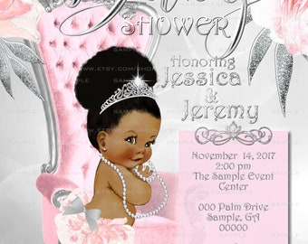 Baby shower invitation african american baby girl christian etsy baby shower invitation african american baby girl shower invitation personalized printable style 057 2a ps bsi aapinksilverbok filmwisefo