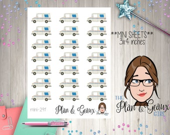 USPS Mail Truck Planner Stickers, US Mail Truck Planner Stickers, Mail Stickers, Erin Condren, Bullet Journal, Happy Planner, MINI 291