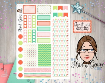 Whimsy Christmas Planner Stickers,  Christmas Planner Stickers, Happy Planner Stickers, Erin Condren, Bullet Journal, W-062