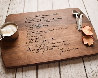 Handwritten Recipe Cutting Board, Grandma's Handwriting, Engraved Recipe, Mother's Day, Gift for Mom, Personalized Cutting Board
