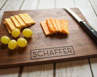 Personalized Cutting Board - Engraved Cutting Board, Custom Cutting Board, Wedding Gift, Housewarming Gift, Anniversary Gift, Engagement
