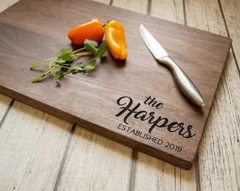 Custom Cutting Board - Engraved Cutting Board, Personalized Cutting Board, Wedding Gift, Housewarming Gift, Anniversary Gift, Mothers Day