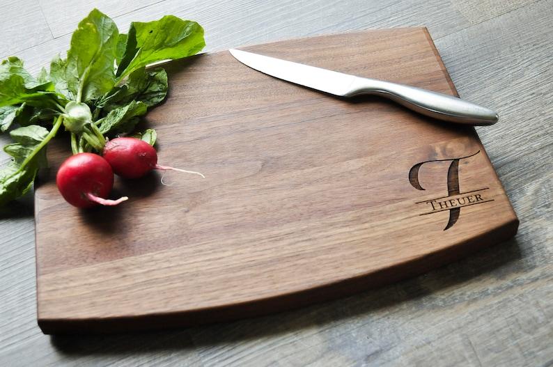 Housewarming Gift Custom Cutting Board Personalized Engraved Cutting Board Walnut Anniversary Gift Personalized Wedding Gift Monogram