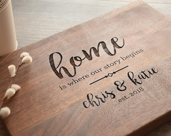 Real Estate Closing Gift, Housewarming Gift, New Home Gift, Personalized Cutting Board, Wood Cutting Board, Logo Advertising