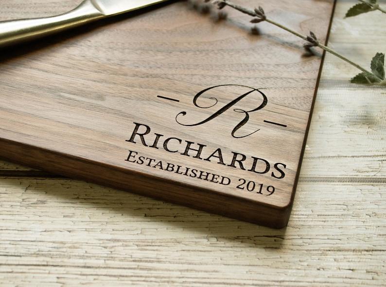 Housewarming Gift Custom Cutting Board Personalized Cutting Board Engraved Cutting Board Engagement Wedding Gift Anniversary Gift