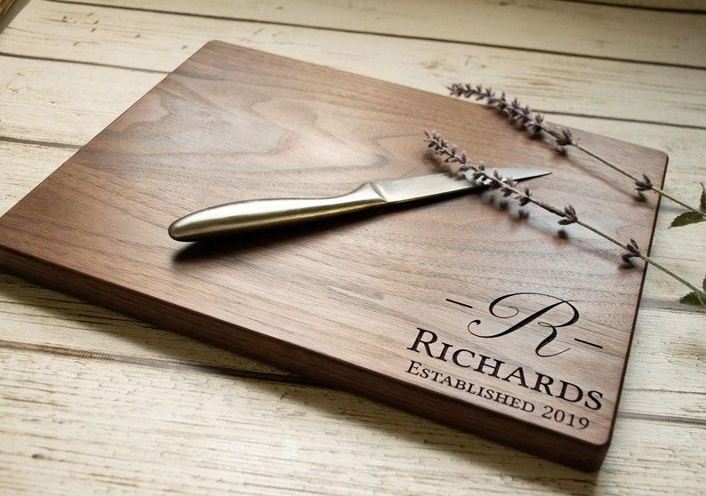 Engraved Cutting Board Personalized Cutting Board Engagement Gift Housewarming Gift Wedding Gift Custom Cutting Board Anniversary Gift
