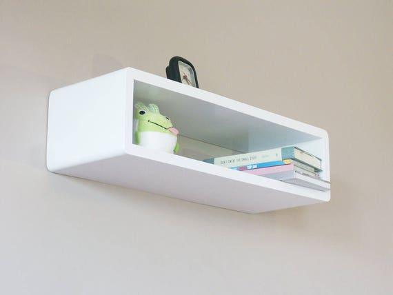 half off 8fb3a 3cc89 Whyte Slim Modern Floating Wall Shelf, Cube Shelf, Wall Decor Box