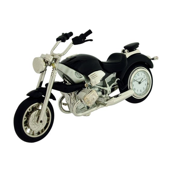 Miniature Red Indian Style Motorbike Novelty Collectors Clock 9497R