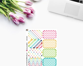 Colourful HALF BOXES ~ Planner Stickers ~ CAM00350