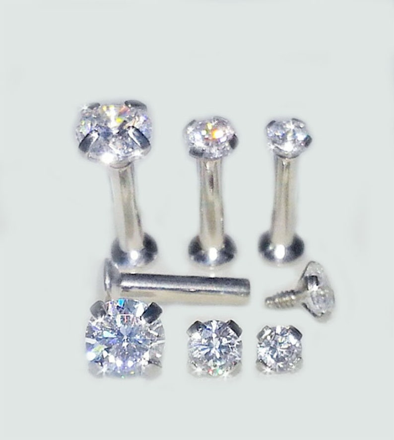 2f2b84b69 18g 16g TITANIUM Stud PRONG SETTING Nickel Free Metal   Etsy