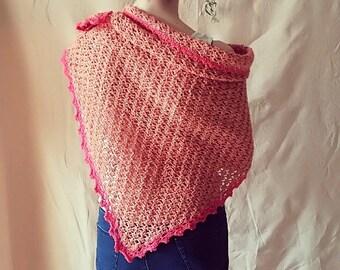 Rough Pink Shawl