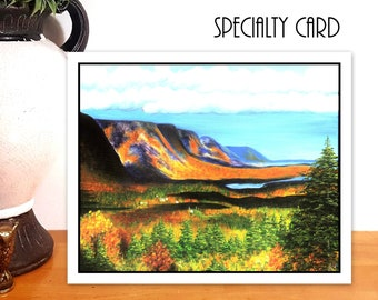 Cabot Trail Card - Blank Greeting Cards - Handmade - Cape Breton - Fine Art Cards - Any Occasion Cards - Nova Scotia - Landscape - Nature