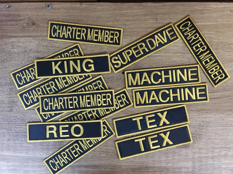 7850149967b Name Patches. Custom Name Patches. Embroidered Name Patches.