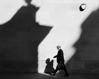 Black-And-White Photography, BW Photography, London Photography, Monochrome Home, London Poster, Europe Photo, Blackandwhite Print, Square