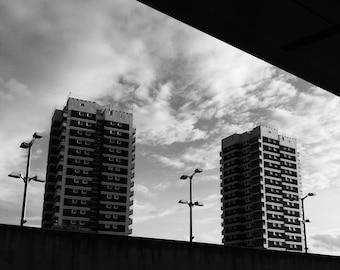 Black White Architecture Print, Architecture Photo, Architecture Wall Art, Skyline Photography, Building Photo, Bw Architecture, Blacknwhite