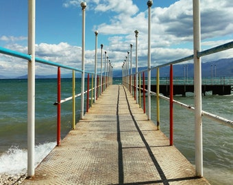 Blue Sky, Water Photo, Lake Photograph, Blue Sky Photo, Vacation Photos, Seascape Photo, Dreamy Photo, Relaxing Photo, Pogradec, Albania