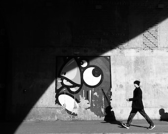 Black And White Art, Black And White Wall Art, Black White, Modern Wall Art, Living Room Art, Graphic Wall Art, Southwark, London, England