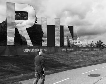 Run Print, Run, Running Print, Typographic Print, Running Poster, Typography Print, Run Art, Running Gift, Stratford, London, England