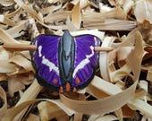 Leather butterfly hair ba...